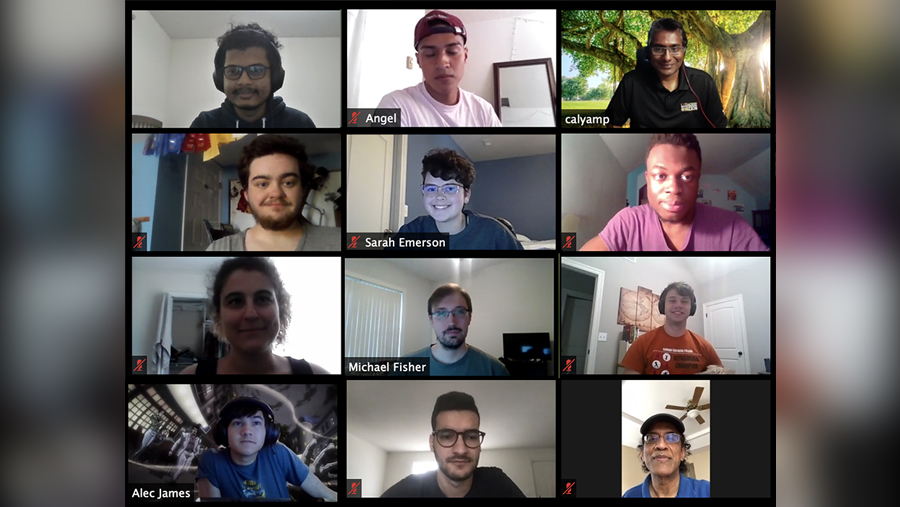 people on zoom call