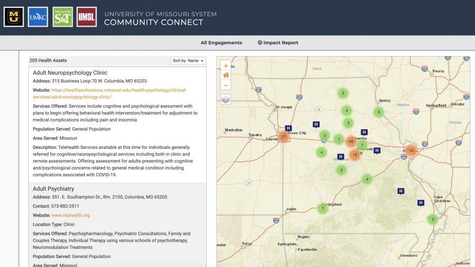 screenshot of web app