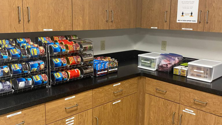 Food and hygiene products are available at the Mizzou Engineering Pantry.