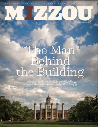 Cover of spring 2020 issue of MIZZOU magazine with Jesse Hall and the Columns.