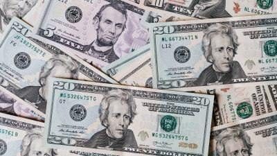 This is an image of a variety of dollar bills.
