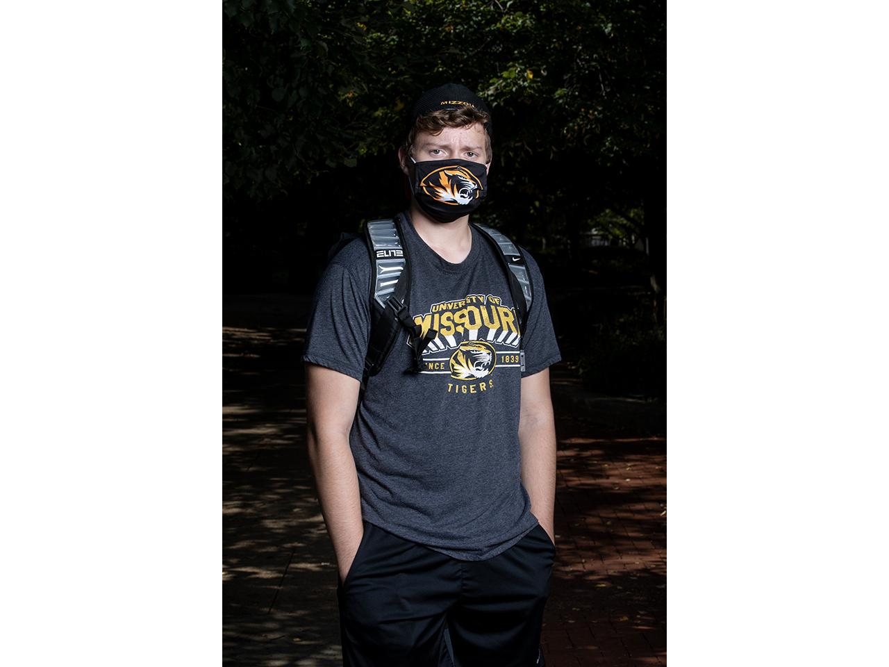 Garrett Baylie, freshman majoring in business