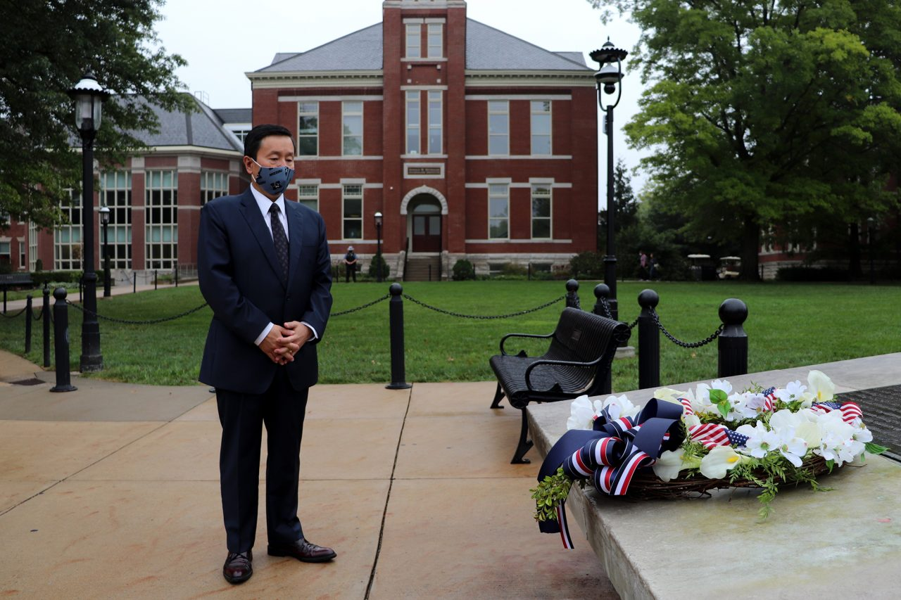 UM System President and MU Chancellor Mun Choi reflects on the lives lost on Sept. 11, 2001.
