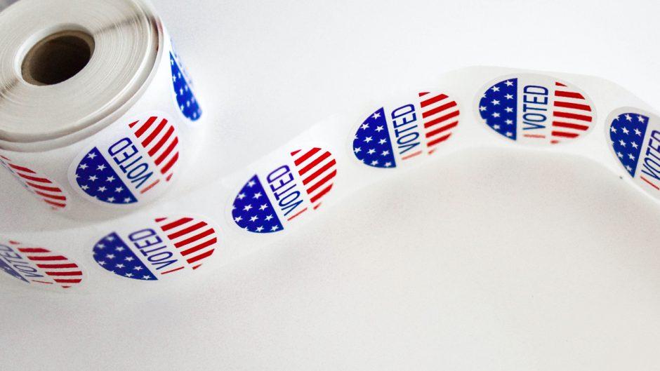 voting sticker spool