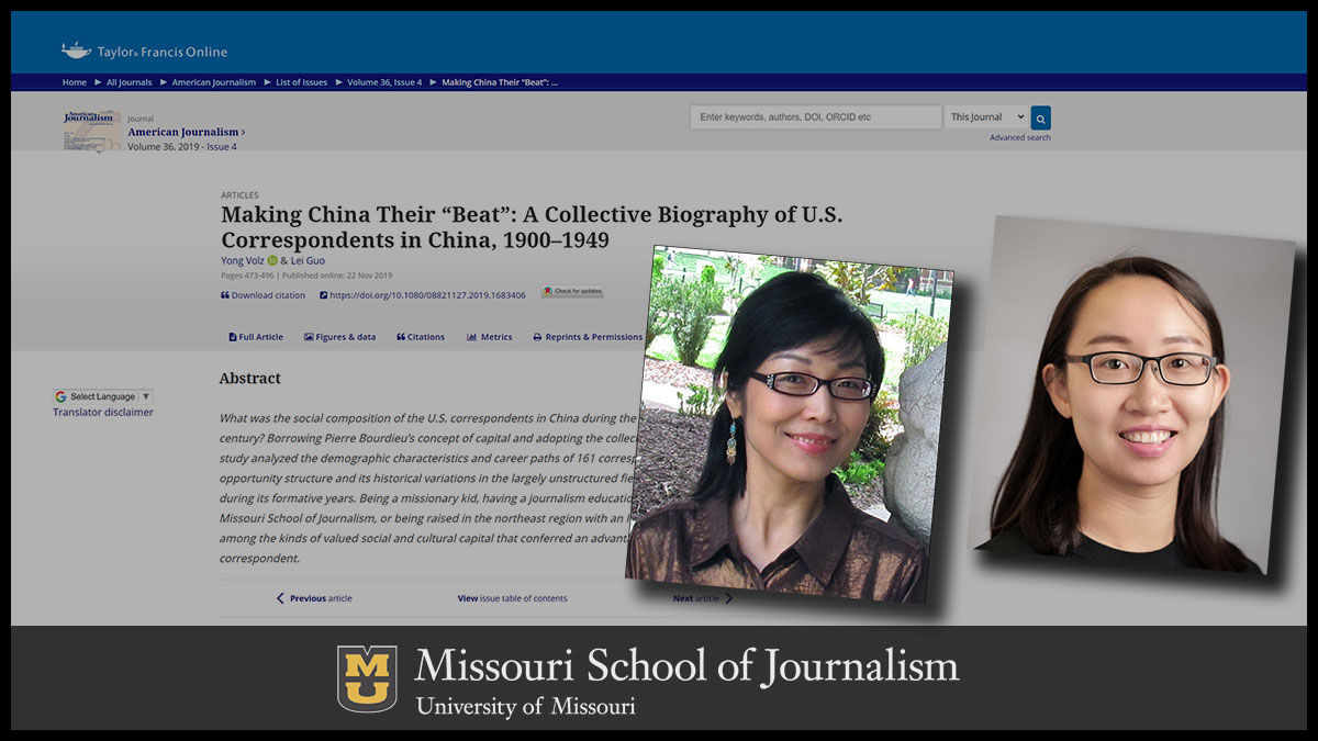 headshots of two women on top of a story screenshot