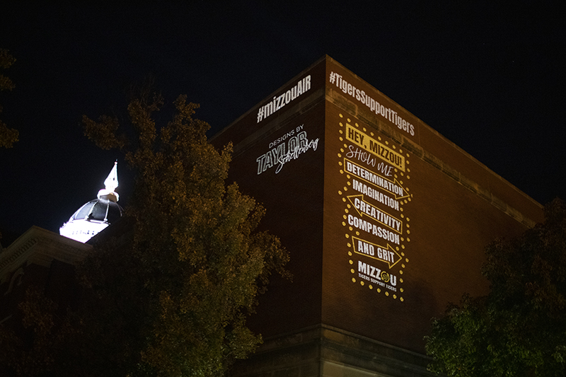 projection on side of building