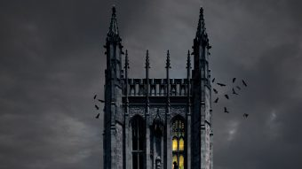 illustration of a spooky Memorial Union
