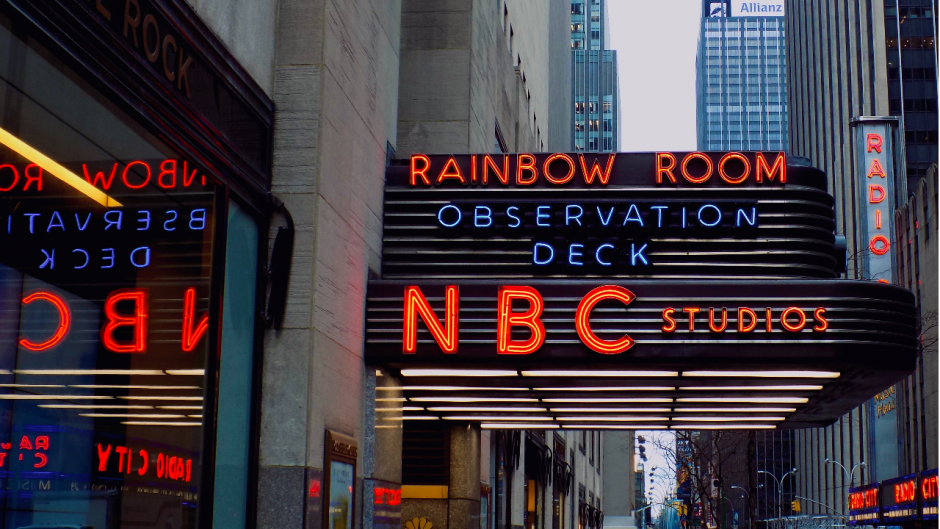 NBC studios entrance in NYC