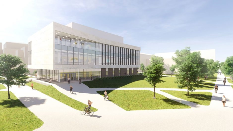 This is a rendering of the new Sinclair School of Nursing.