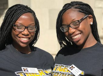 This is a picture of twins Julisha and Justina Wilkins.