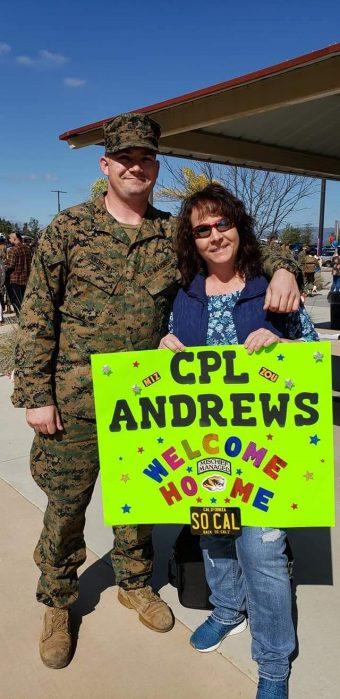 Kyle Andrews, left, is president of the Mizzou Student Veterans Association.