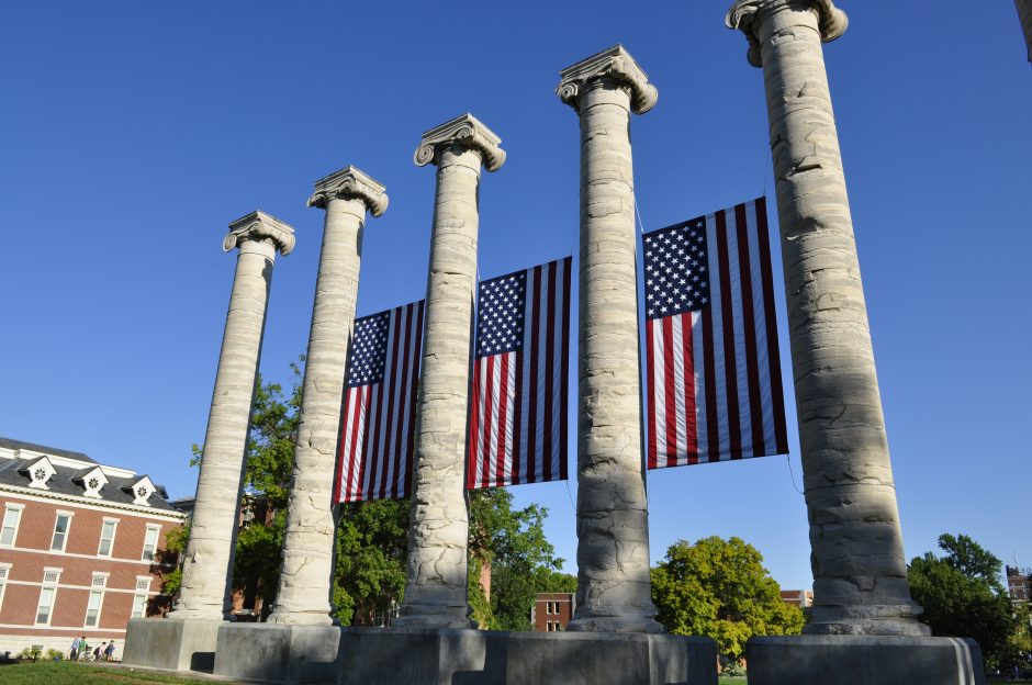 columns and flags