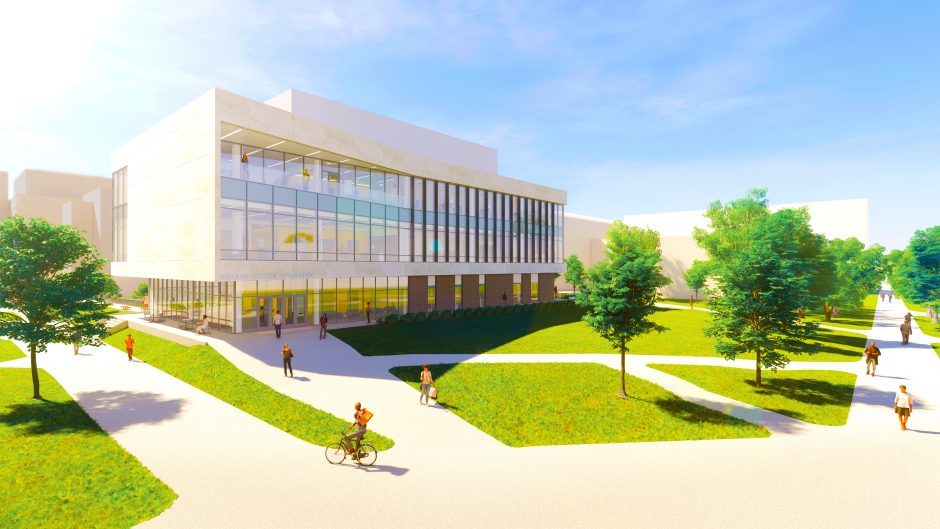 This is a rendering of the new building.
