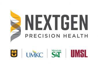 nextgen precision health logo with UM system icons below it