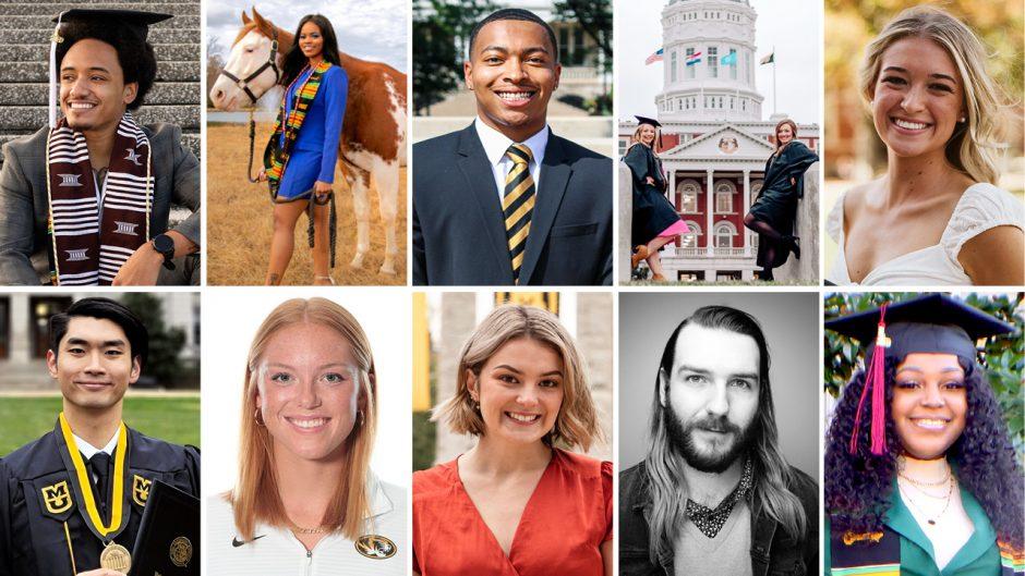 headshots of 11 student graduates