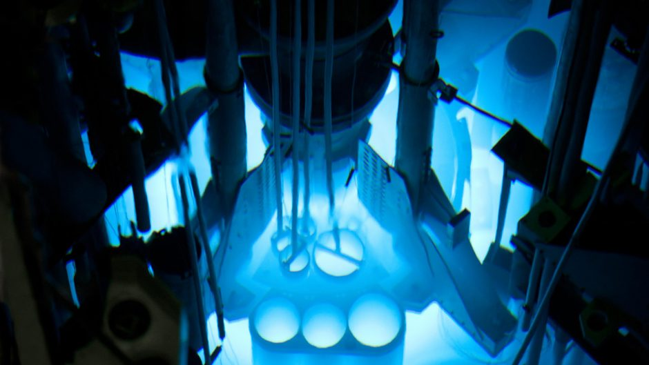 This is a picture of the University of Missouri Research Reactor.