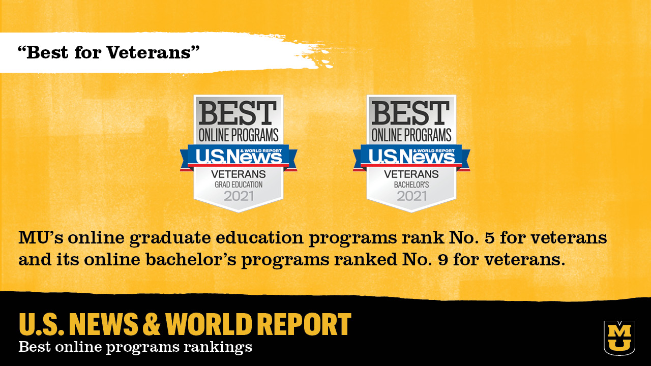 """graphic that shows MU was ranked """"best for veterans"""""""
