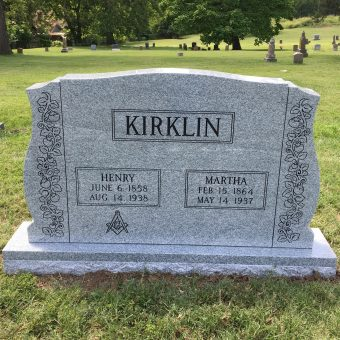This is a picture of Henry Kirklin's headstone at the Historic Columbia Cemetery.