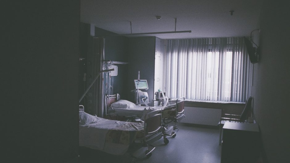 This is a photo of a hospital room.