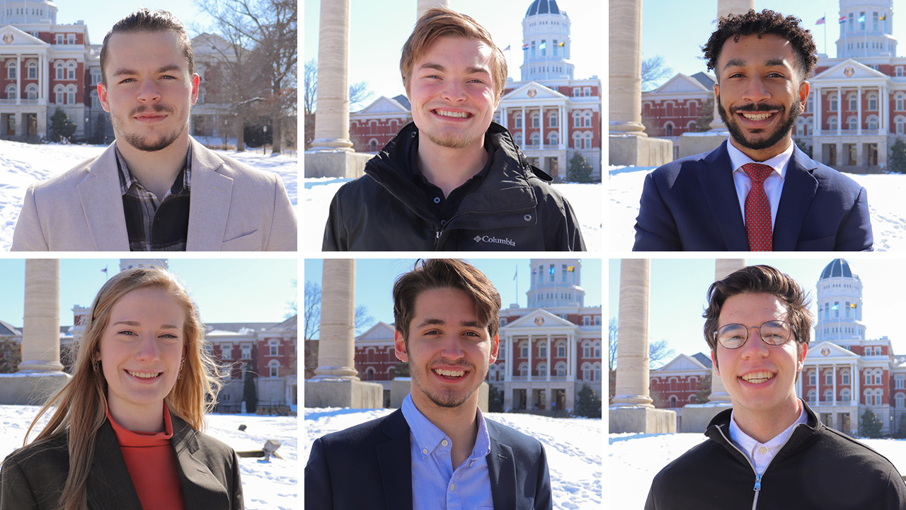 six student headshots smiling
