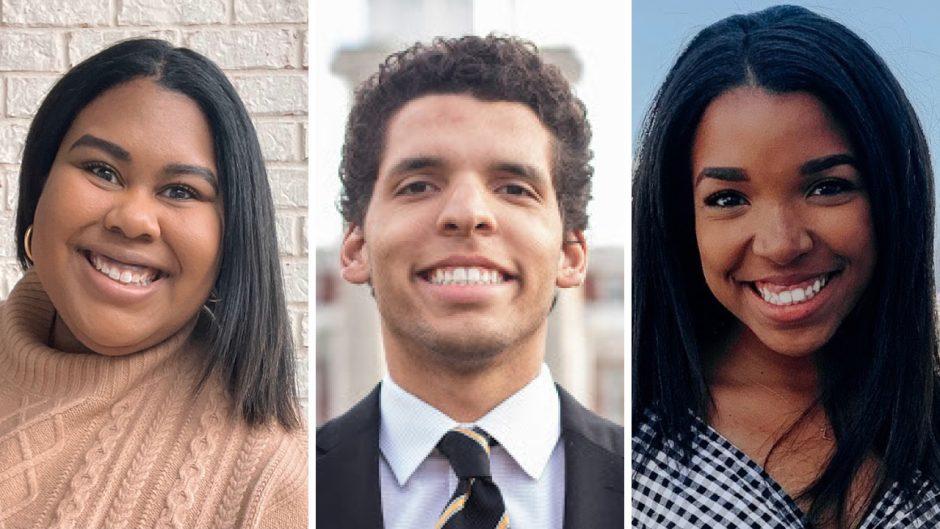 three journalism student headshots