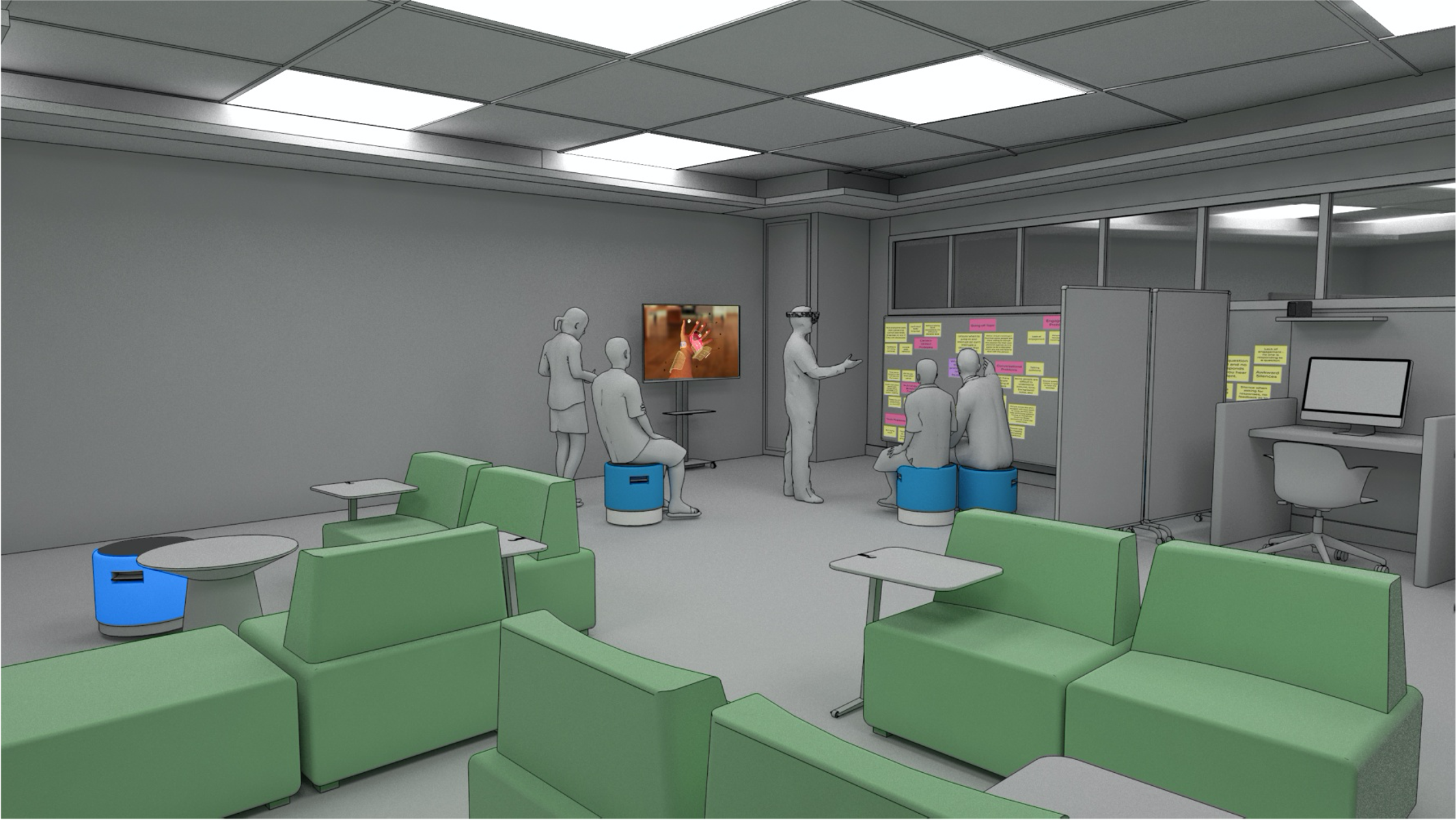 concept art for lab space