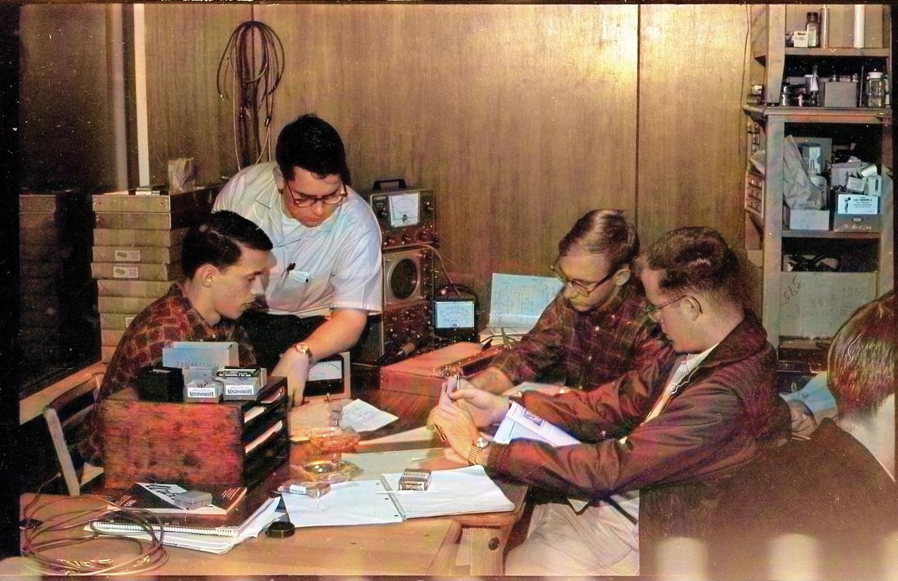 students in radio studio