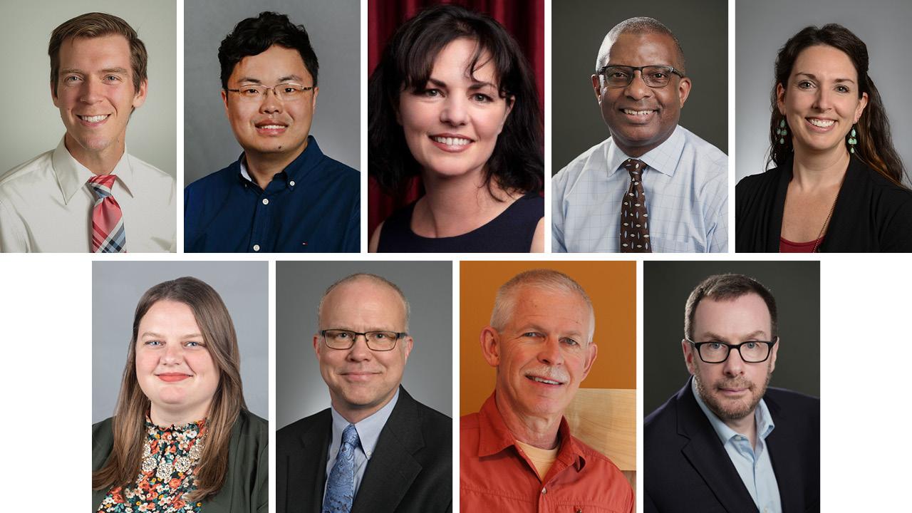 Top row: Brett Johnson, Zheng Yan, Wendy Reinke, Ron Kelley, Kelli Canada Bottom row: Ashley Givens, Clark Peters, Glen Cameron, David Herzog