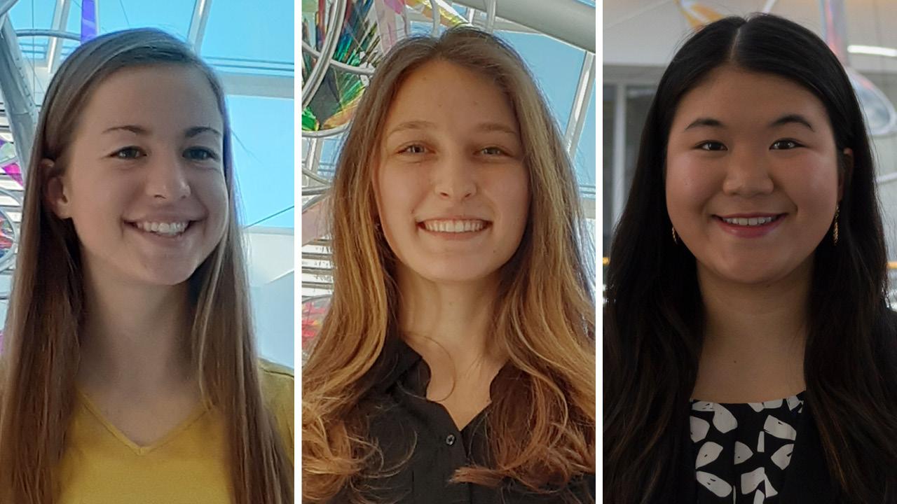 three student headshots