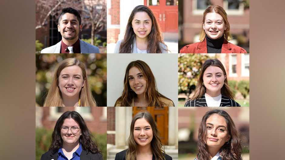 nine student headshots