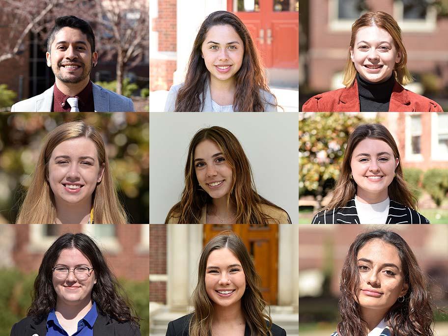 nine student headshots