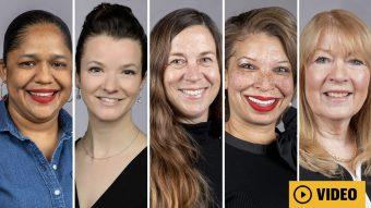 five women headshots with a