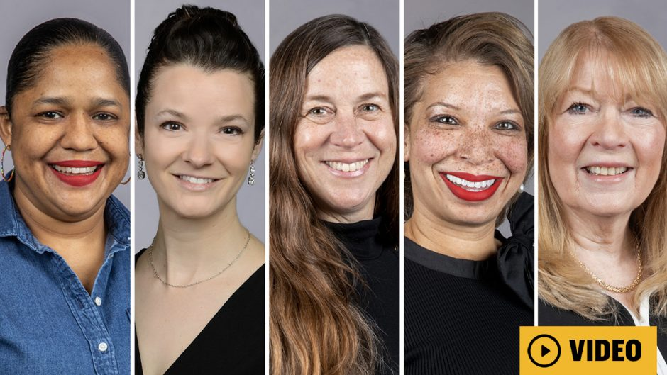 five women headshots with a