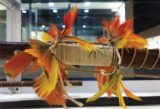 This is a photo of a feathered bow.