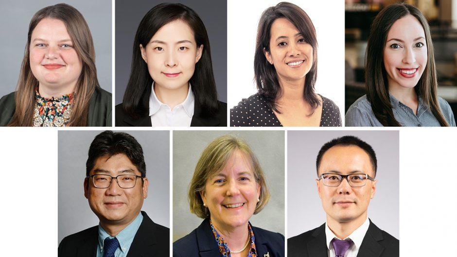 seven faculty headshots