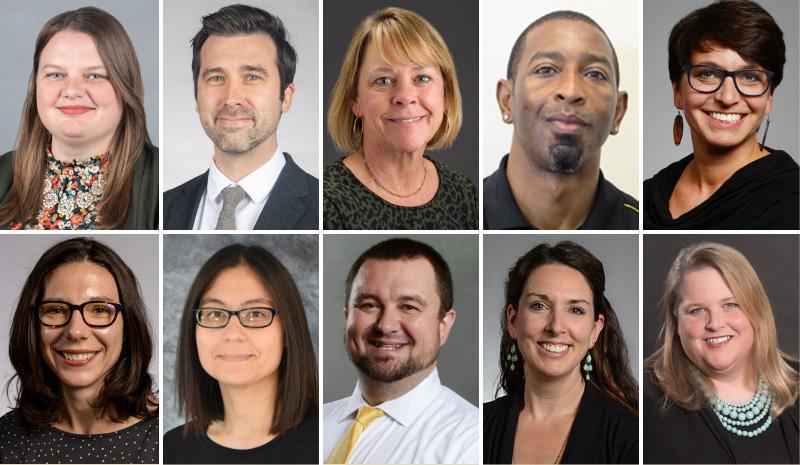 headshots of faculty award winners
