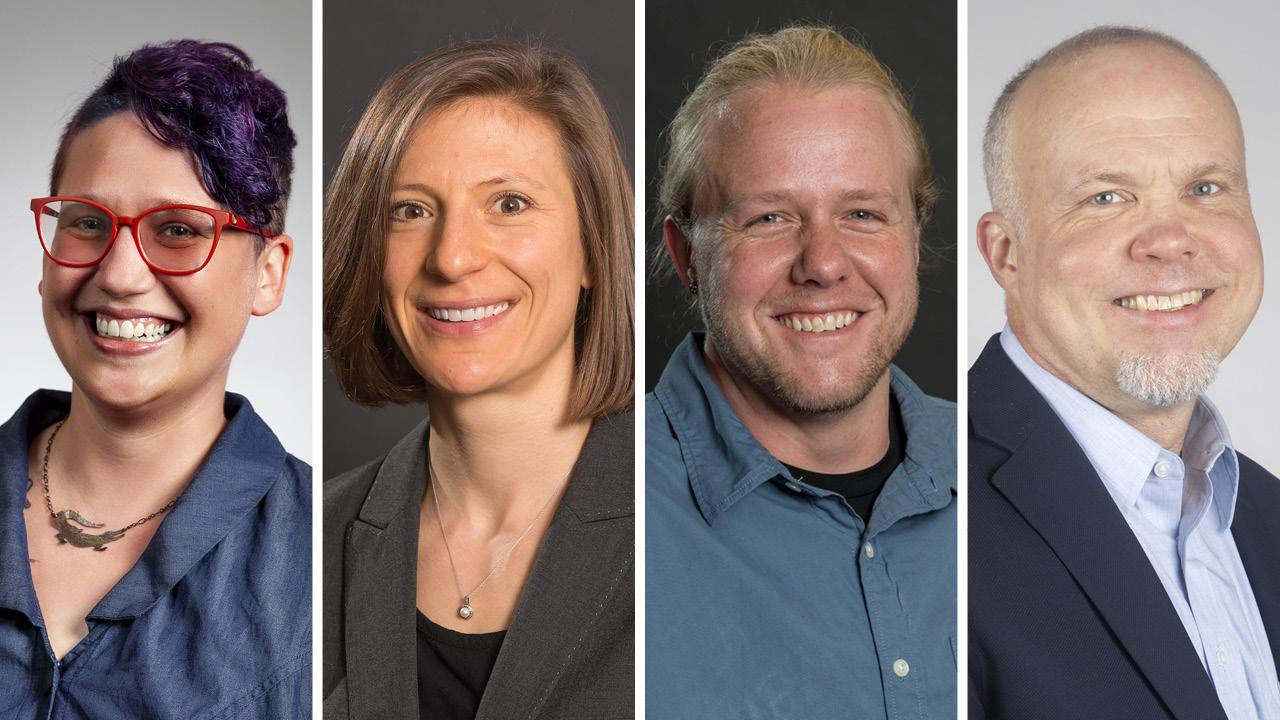 four faculty headshots