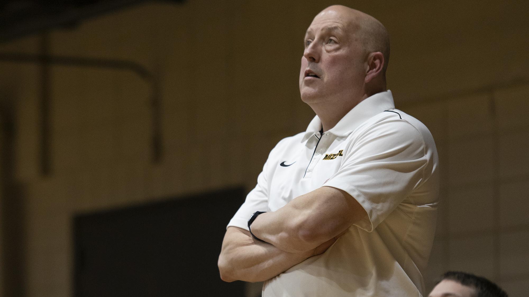 coach Lykins at a wheelchair basketball game