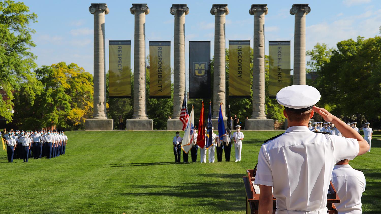 ROTC on the quad