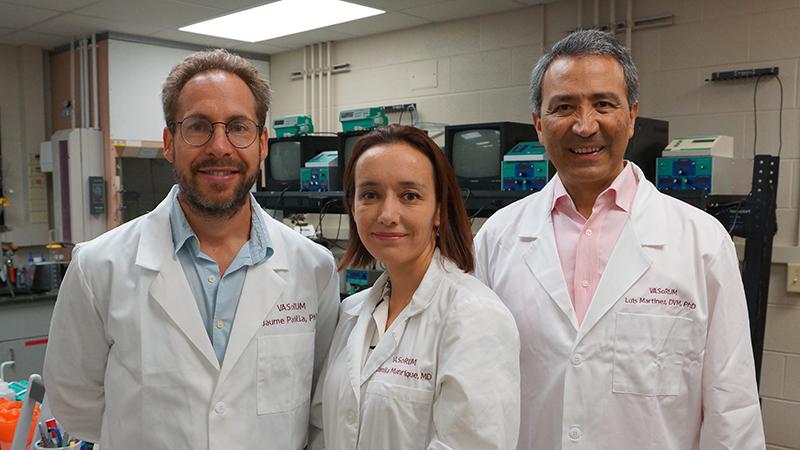 Jaume Padilla, Camila Manrique-Acevedo and Luis Martinez-Lemus.