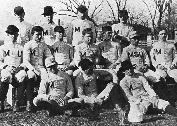 The 1890 Mizzou football team. Photo courtesy University Archives Collection C:1/25/6