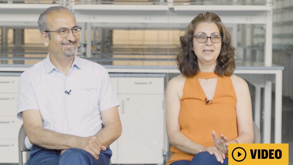 Shirwan and Yolcu in a lab