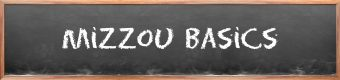 """chalkboard that says """"mizzou basics"""""""