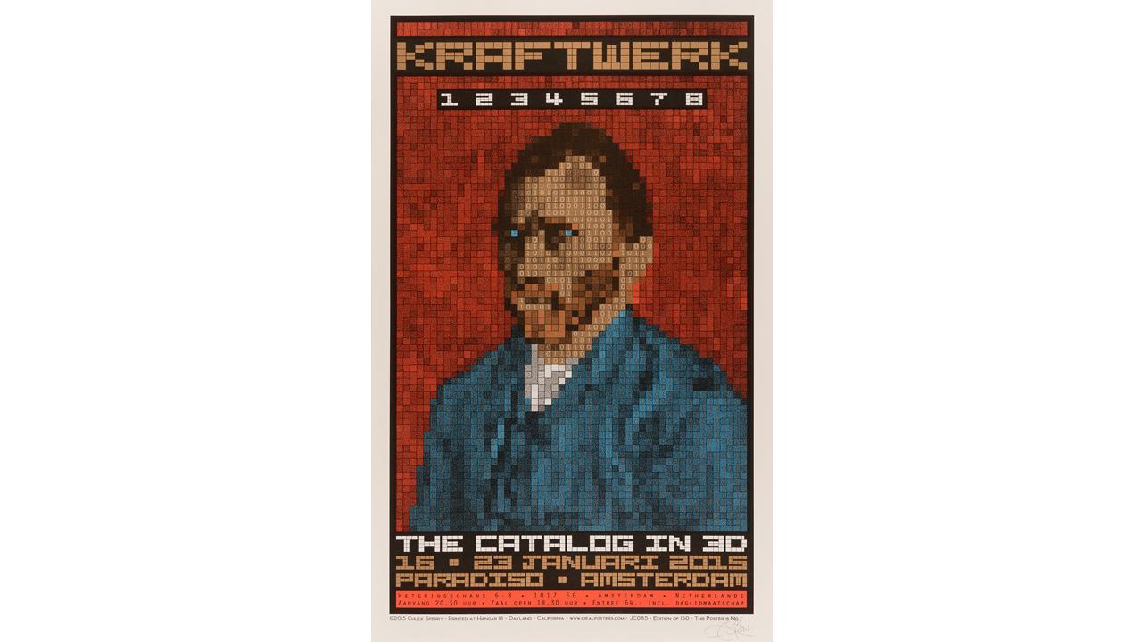 Kraftwerk concert poster