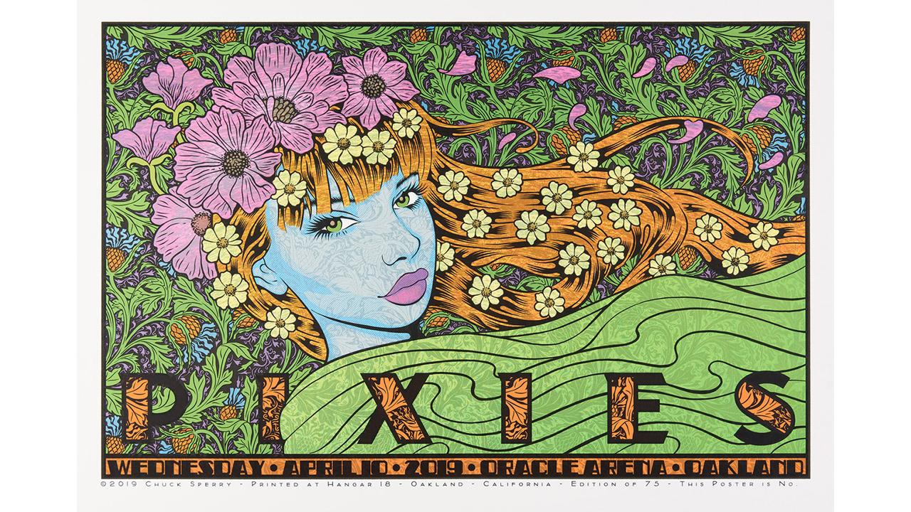 Pixies concert poster