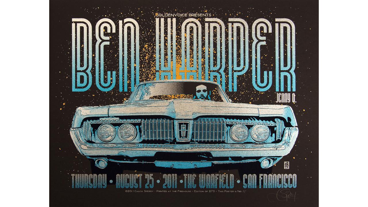 Ben Harper concert poster