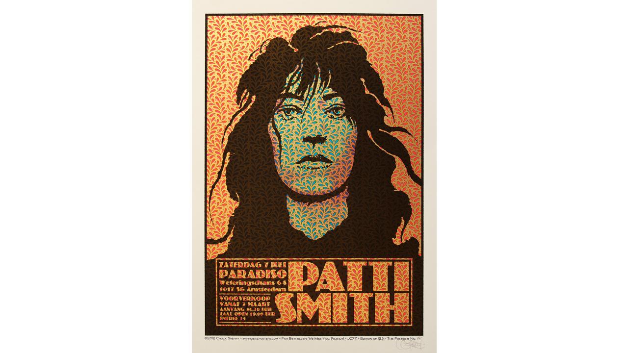 Patti Smith concert poster