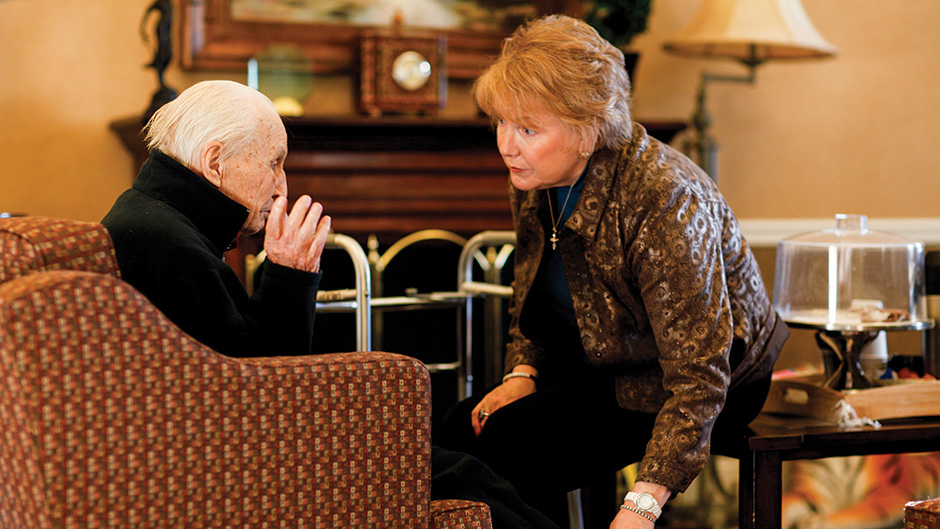 marilyn rantz with a resident at a nursing home