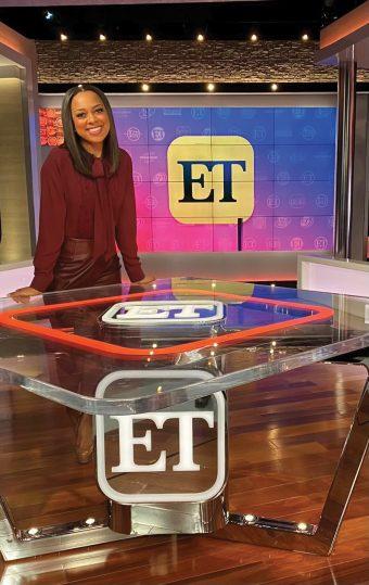 Nichelle Turner on the Entertainment Tonight set.