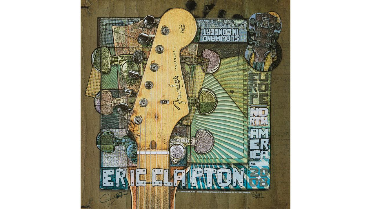 Eric Clapton concert poster
